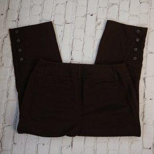 Dana Buchman Woman Chocolate Brown Capri Pants 10